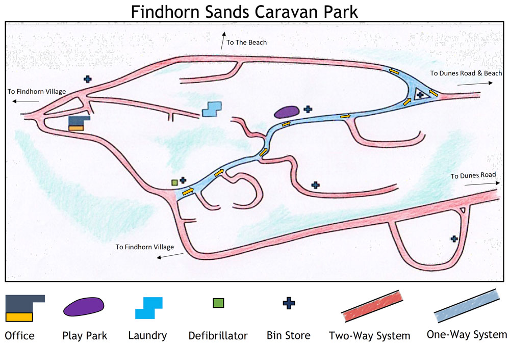 Findhorn Sands Map